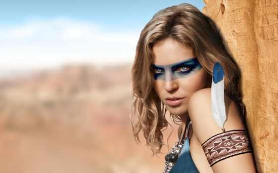 перья, девушка, перо, devushki, взгляд, indian, камуфляж, макияж, американский,