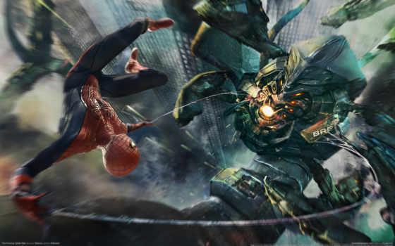robot, паук, мужчина, scorpion, spiderman, парение, полет,