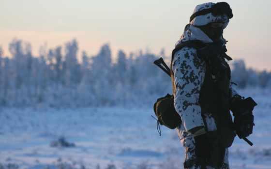 солдат, снег, оружие, winter, рф, sun, армия, камуфляж,