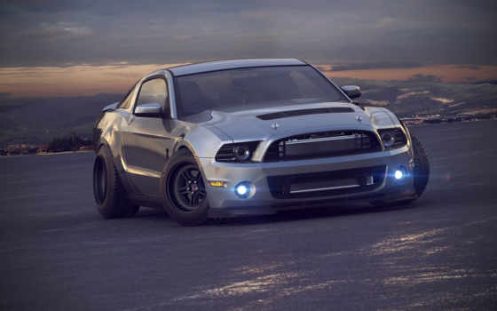 car, ford, mustang, авто, muscle, shelby, машины, серый,