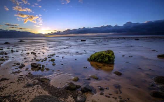 hawaii, остров, закат, kaanapali, пляже, халеакала, природа, maui,