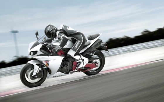 мотоцикл, bike, yamaha, мотоциклы, высоком, скорость, гонщица,