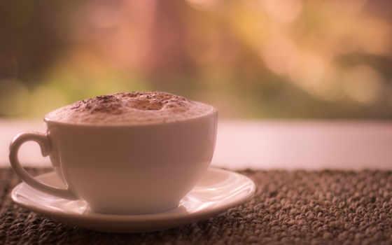 кофе, чашка, макро