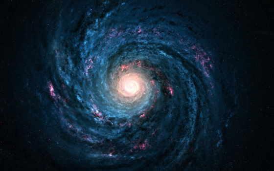 путь, млечный, galaxy