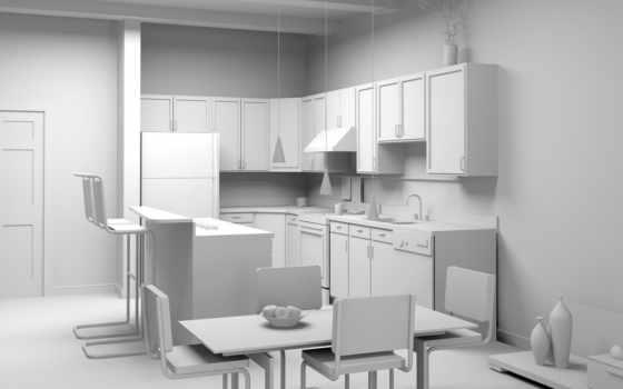 интерьер, мебель, комната, kitchen, design,