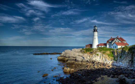 lighthouse, свет, голова, portland, free, мэн, elizabeth, cape, wallpapersafari,