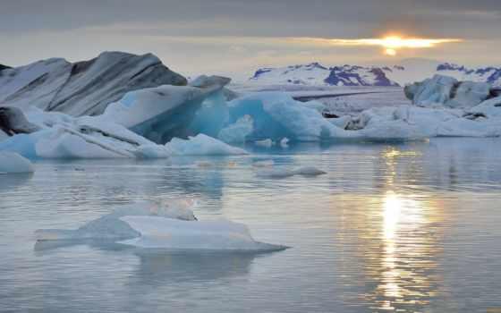 ocean, океана, горы, атлантический, льды, lagoon, arctic, снег, jokulsarlon, ёкюльсаурлоун,