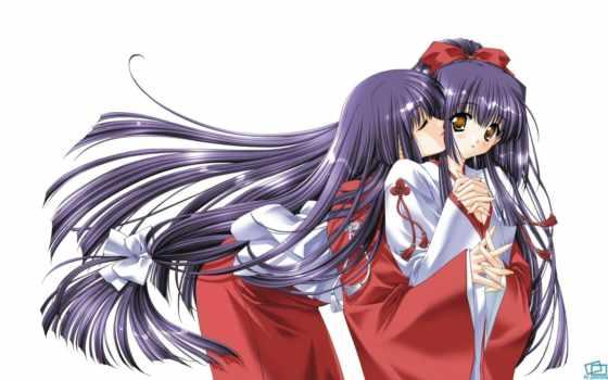 anime, девушка, shrine