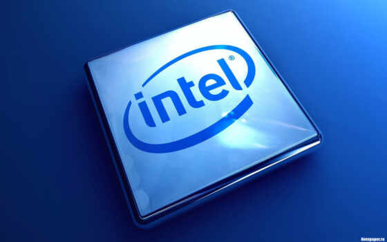 intel, logo, blue