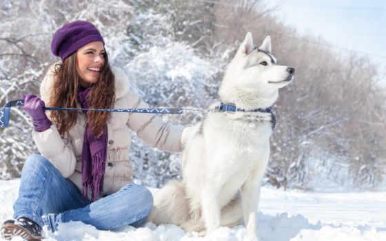 девушки, winter, снег