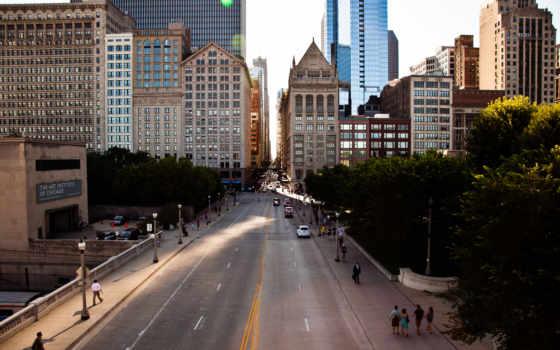 chicago, usa, улица