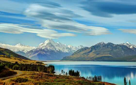 new, zealand, гора, sheep, красавица, journey, animal, landscape