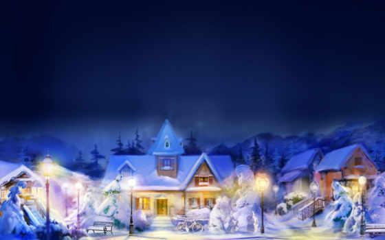 зимние, пейзажи -, landscape