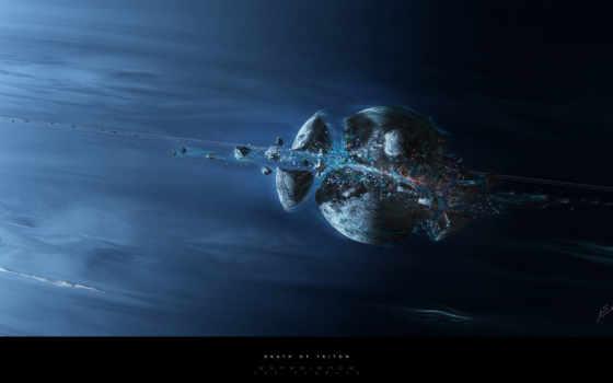 planet, осколки, bang