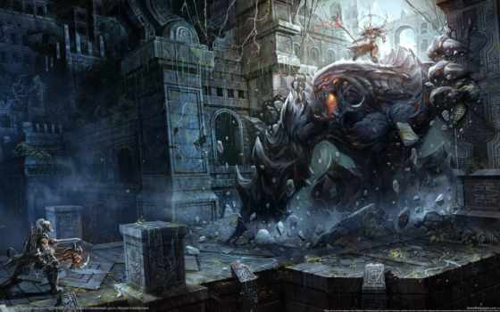 diablo, barbarian, reaper Фон № 112932 разрешение 2560x1440