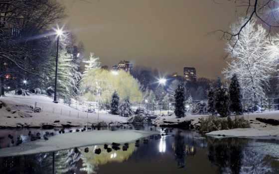 winter, город, снег, trees, широкоформатные, дек, красивые, park, зимы, зимние,
