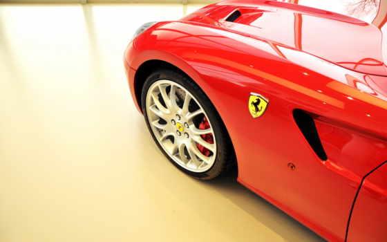 ferrari, авто, красный