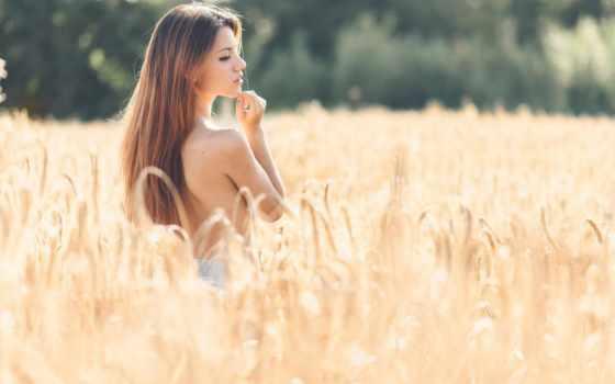 поле, колосья, девушка, фотографий, summer, profile, фотосессия, девушек,