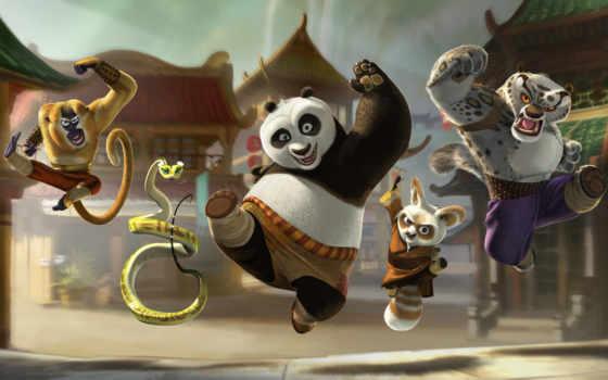 панда, kung, мультфильм, Кунг-фу,