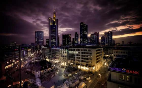 город, шпалери, ночь
