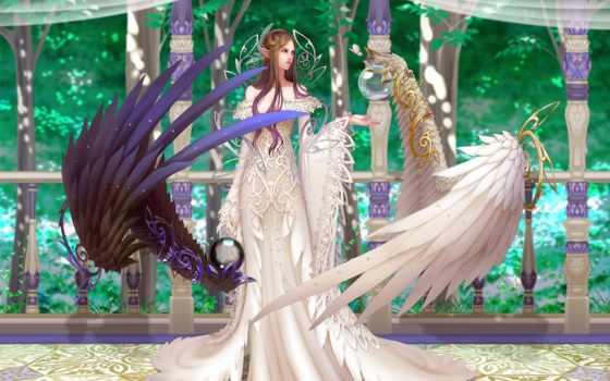 крылья, девушка, angel