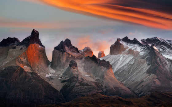 del, paine, torres, national, park, chile, horns,