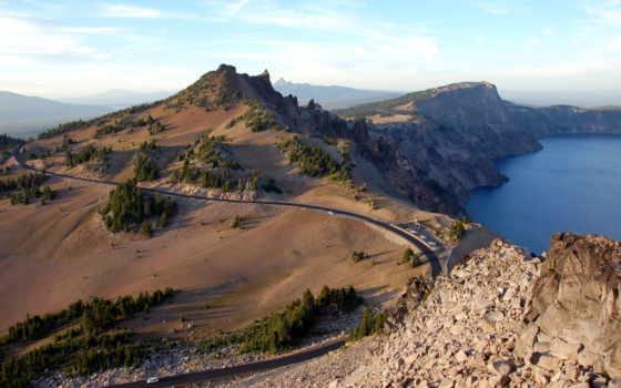 crater, lake