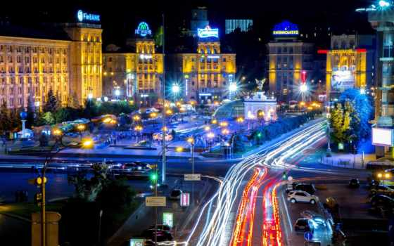киев, square, ukrainian, independence, ukraine, ночь, бесплатные, независимости,