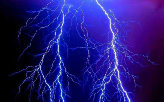 lightning, разряд, electricity, ночь, небо, элемент, danger, категория,