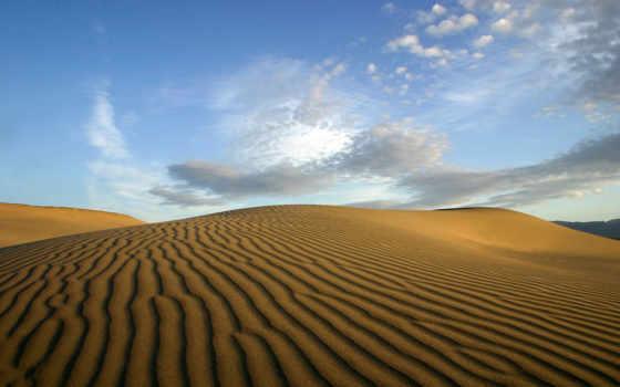 пустыня, облака