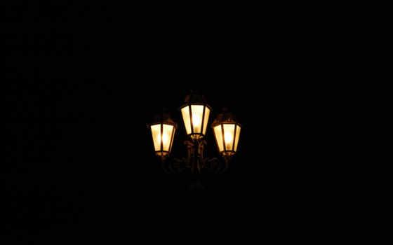 фонари, ночь
