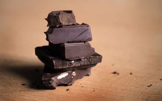 макро, шоколад