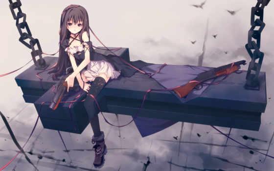 anime, art, девушка