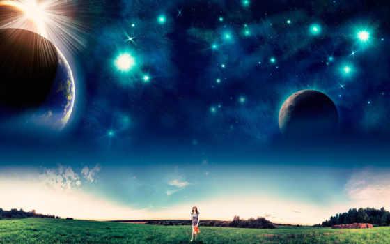 gwiazdy, niebo, tapety, планеты, мб, spacerująca, dziewczyna, mix, биг, noc,