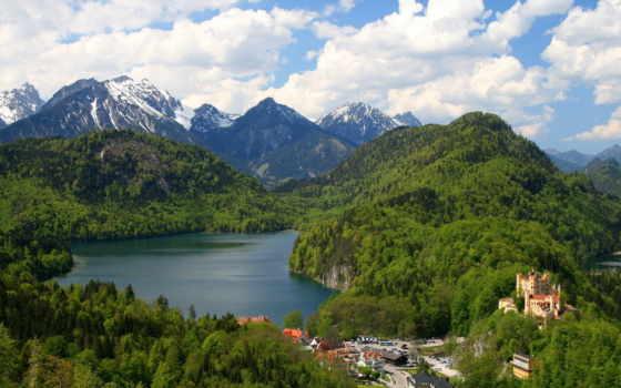 castle, hohenschwangau, abyss, бавария, psytrance, альпы,
