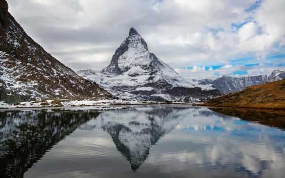 гора, маттерхорн, swiss, альпы, italian,