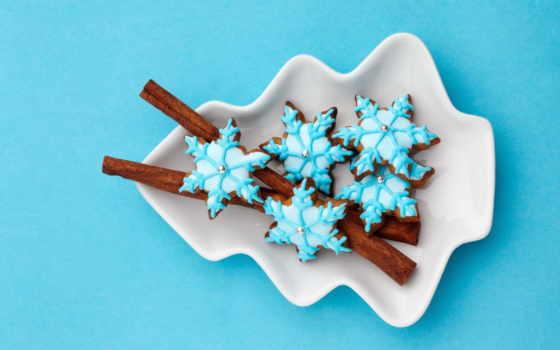 cookie, новогоднее, глазурь, рождественское, выпечка, снежинки, звездочки,