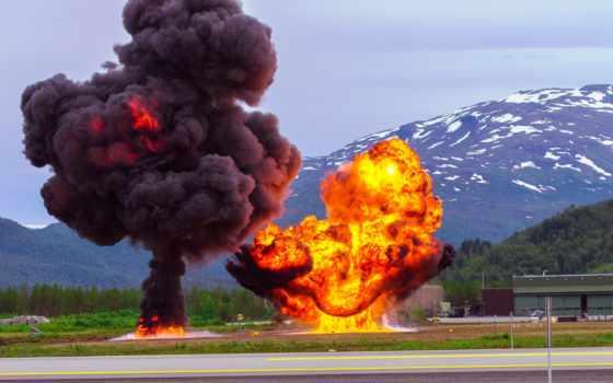 взрывы, военный, пейзажи -, оружие, учения, дорога, норвегия, горы, fone,