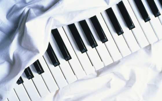 музыка, музыку, красивые, piano, клавиши, светлые, высокого, качества, инструмент,