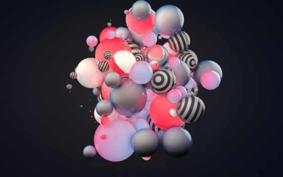 digital, мяч, electronic, dance, art, rendering, bubble, shirokoformatnyi, биг, абстракция
