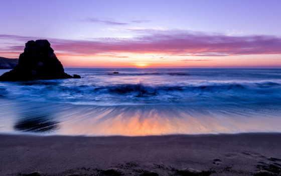 берег, море, горизонт