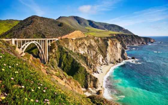 california, мост, sur