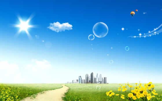 небо, blue, город, кб, монитора, дата, избранном, прислал, просмотров, рейтинг,