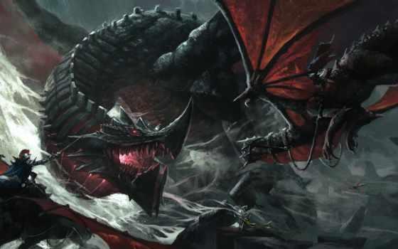 fantasy, драконы, драконы, картинка, об, фэнтези, маг, бой, art, стиле,