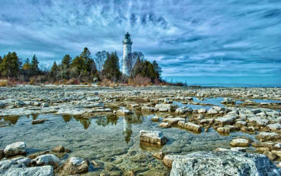 берег, камень, природа, пляж, маяки, lighthouse, lighthouses, скалистый, моря,