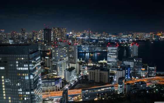 ночь, tokyo, urban, площадь, bay, япония, build, огни, город, spotify, нота