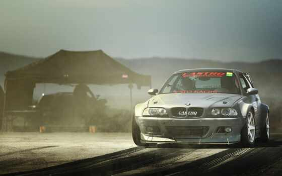 drift, with, car