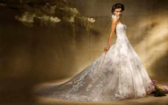 платье, девушка, свадебное