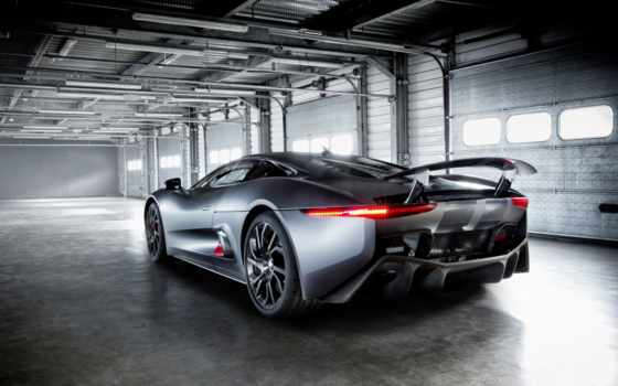 jaguar, вид, cabriolet, суперкар, prototype, hybrid,