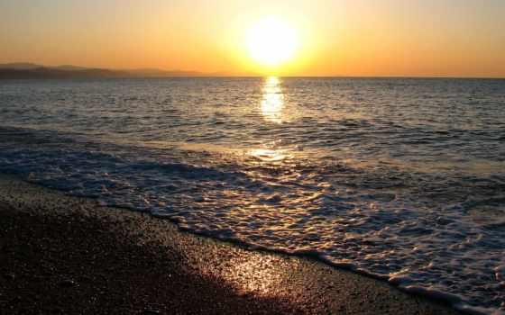 море, чёрное, sun, горизонт,